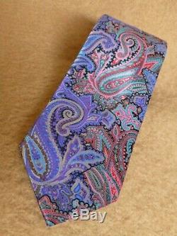 Ermenegildo Zegna Quindici Cravate En Soie Paisley Multicolore Bleu, Violet, Italie Italie