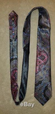 Ermenegildo Zegna Quindici Edition Limitée Cravate En Argent Et Multicolore Paisley Nouveau