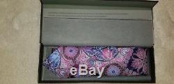 Ermenegildo Zegna Quindici Edition Limitée Rose Et Multicolore Paisley Tie Nouveau