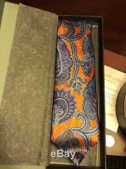 Ermenegildo Zegna Quindici Paisley Cravate Fabriqué En Italie. Beau