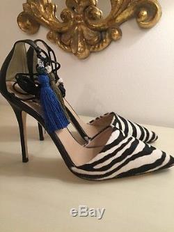 Escarpins En Peau De Veau Zébrée Roxie Collection J Crew Sz 8 E5053 Zebra 368 $