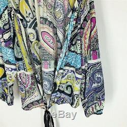 Etro Blouse Taille 44 Cravate Multicolore Floral Femme