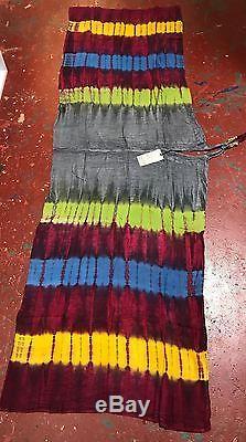 Filets Sacrés Cravate Teinte Harem Rayonne Plage Romper Overalls O / S Convient À S / M / L / XL / 1x