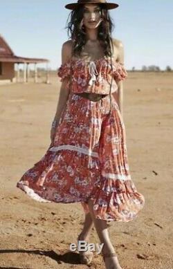 Final Drop Magie & La Robe Gypsy Revolver Mouchoir Maxi Robe Sz De La Vintage