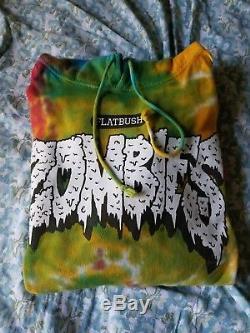 Flatbush Zombies Limited Edition Sweat À Capuche Cravate Arc-en-ciel Taille Grand