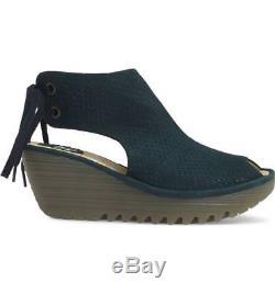 Fly London Femmes Ypul Wedge Tie Back Peep Toe Sandals Reef Tailles 36-41