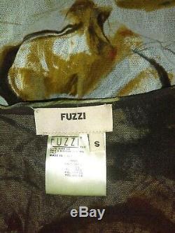 Fuzzi Jean Paul Gaultier Top S Floral Extensible Mesh True Wrap Chemisier Petit