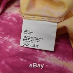 Gosha Rubchinskiy Des États-unis T-shirt Surdimensionné De Colorant De Cravate Rose Pour Les Hommes Ss18 Authentique
