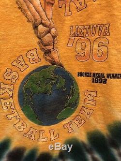 Grateful Dead Lituanie Équipe Olympique De Basket-ball Tie-dye Vintage T-shirt XL