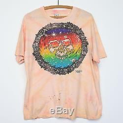 Grateful Dead Shirt T-shirt Vintage 1980 Mikio Kennedy Tie Dye Skull Tee Années 1980