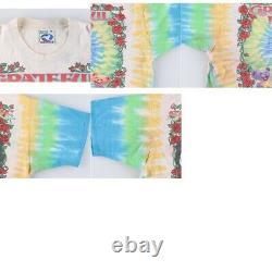 Grateful Dead T-shirt Taille XL Tie Dye Coton Multicolore Liquid Blue Vintage 90's
