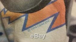 Grateful Dead Vintage 1994 T-shirt Dye Tie Dye De Joueur De Hockey Crâne Et Squelette Grand