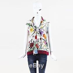 Gucci Multicolor - Soie À Imprimé Floral Sans Manches À Encolure Dégagée Sz 42