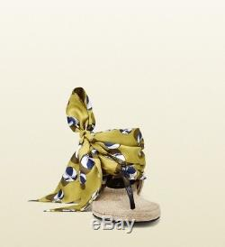 Gucci Nib Carolina - Ballon De Plage En Satin À Lacets - Espadrille Taille 39 / 8.5