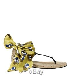 Gucci Sandales Plates Multicolores Carolina Beach Ball En Satin Pour Femmes 338691 7362