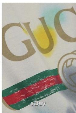 Gucci Tee-teints T-shirt Payé 550 $ De Saks Taille M