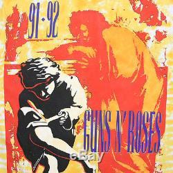 Guns N Roses Shirt Vintage Tees 1991 Utilisez Votre Illusion Tour Tie Tie Dye Tee 1990s