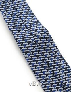 Hermes Cravate Soie Bleu Multicolore