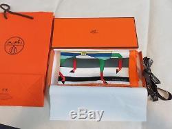 Hermes - Pochette Rocabar 45 Soie Sergé 6 Chevaux 16 X 16 Écharpe Nouée Box
