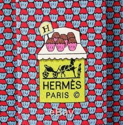 Hermes Tie Muffins Nouveau Dans La Boîte Avec L'étiquette 645796 Authentique