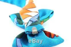 Hermesparis Mini-noeud Papillon En Soie Multicolore Authentique