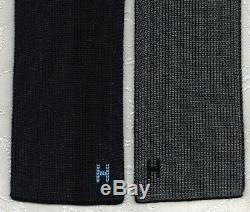 Hip Brand New Skinny Hermes Silk Knit Tie 4 Temps Noir / Bleu Marine / Gris / Bleu Med