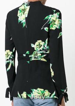 Hou La La! Nouveau Tags Proenza Schouler Cravate Floral Devant Blouse $ 850 Sz 0