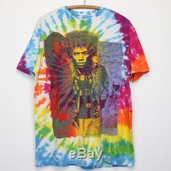 Jimi Hendrix Shirt Tshirt Vintage Des Années 1980, Expérience Rainbow Acid Dye Tye Dye Rock