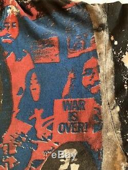 John Lennon Mosquitohead Shirt Vtg 80 Années 1980 Rare La Guerre Est Finie T-shirt Tie Dye XL