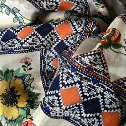 Johnny Was Kimono En Soie Tunique Multicolors L À XL