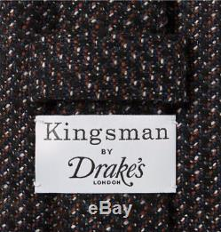 Kingsman + Drake's Statesman 8cm Nailhead Tie En Laine Multicolore Fait Main London