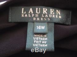 Lauren Ralph Lauren B & W - Robe En Maille Côtelée À Rayures Et Taille 16w Nwt Doublée