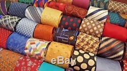 Lot 1000 Designer Cravate Gros Silk Polyester Vintage Cravates Quilt Craft Lots