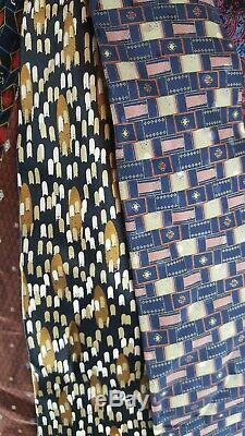 Lot 20 Pcs Brioni Mens Soie De Luxe Multicolor Cravate Costume Cravate Job