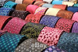 Lot 5000 Hommes Cravates Soie Polyester Millésime Gros Gros Vrac Cravate Cravate