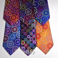 Lot 6 100% Cravate En Soie Pour Homme Multicolore Robert Talbott & Lawrence Ivey