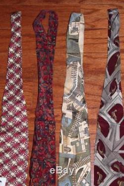 Lot De 15 M. C. Escher 100% Soie Hommes Cravates De Cou Boxelder Company Relativity Rare