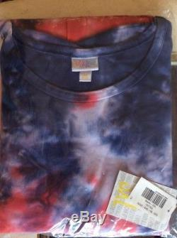 Lularoe Maria Maxi Robe 3xl Tie-dye Lavage À L'acide American Dreams Inv185