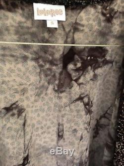 Lularoe Petit Élégant Shirley Léopard Guépard Kimono Wrap Gold Tie Dye Nwt Nouveau