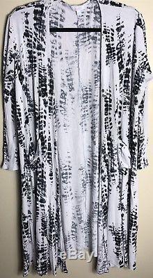 Lularoe Tie Dye Noir Et Blanc Sarah Medium Vintage Unicorn