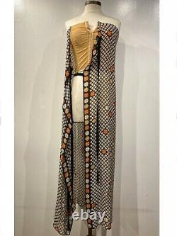 Maison Margiela Femmes S/s 2015 Runway Corset Silk Dress Taille 42