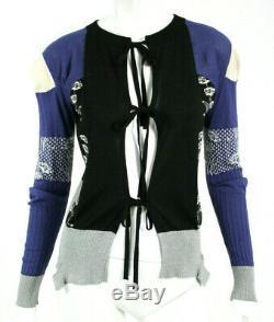 Maison Margiela Multi-couleur Mélange Cachemire Cardigan Tie Front Pull S