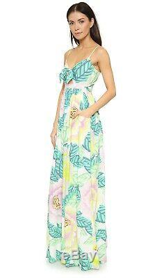 Mara Hoffman Flora Pierre Cutout Avant Tie Tropical Floral Maxi Dress 2 4