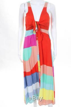 Mara Hoffman Multicolore Colorblock Tie MIDI Taille 8 $ 365 10647574