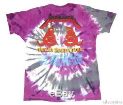 Metallica Vintage T Shirt Concert 1992 Tour Tie Dye Heavy Metal Band XL