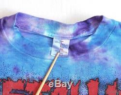 Metallica Vintage T-shirt 1990 1994 Concert Tour Pushead D'eagle Tie Dye XL