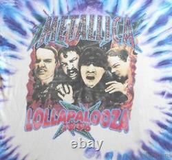 Metallica Vintage T-shirt 1990 De La Tournée De Concerts Tie Dye Lollapalooza 1996