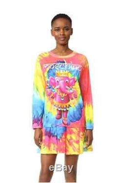 Moschino Couture X Jeremy Scott Multicouleur Tie-dye Jersey T-shirt D'éléphant Ganesh
