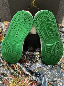 New Air Jordan 1 MID Se Lucky Green / Laser Yellow Size 9 Hommes 852542-101