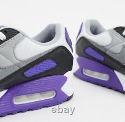 New Air Max 90 Hyper Purple Black Grey Femme Taille 6.5 Sneakers Cd0490-103